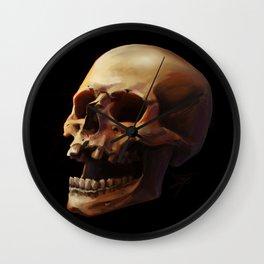 Carpe Diem. Skull Painting Wall Clock