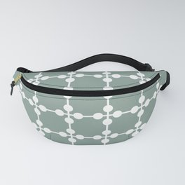 Droplets Pattern - White & Sage Green Fanny Pack