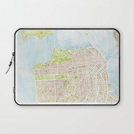 San Francisco CA City Map  Laptop Sleeve