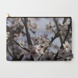 Pink Plum Tree Blossoms against a Blue Sky Carry-All Pouch