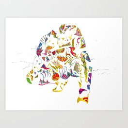 tatoo bear Art Print