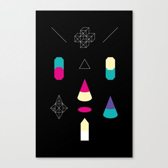 Play on Black Canvas Print