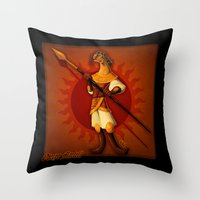 martell Throw Pillows featuring The Red Viper by Giovanni Ariutti