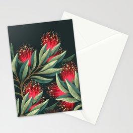 Pohutukawa - Red / Natural Green Stationery Cards