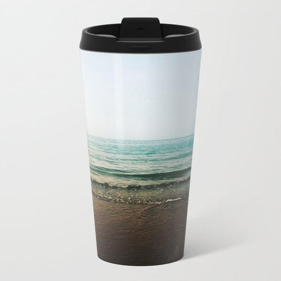 Vivid Morning Waves Metal Travel Mug