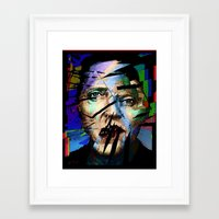 actor Framed Art Prints featuring Christopher Walken. Cracked Actor. by brett66