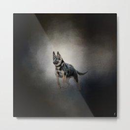 Feet First - German Shepherd Puppy Metal Print