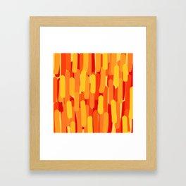 Sunset Flame Brush Strokes Framed Art Print