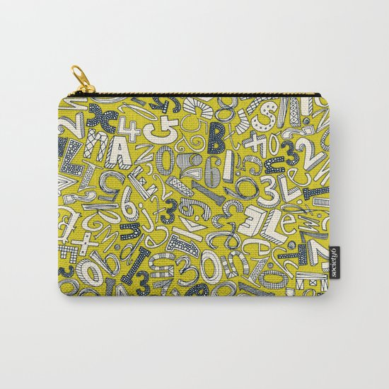 A1B2C3 chartreuse Carry-All Pouch
