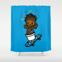 groot Shower Curtains featuring groot groot groot.... by Ziqi