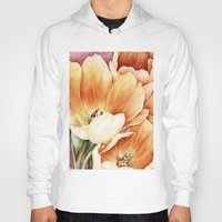 tulips Hoodies featuring Tulips by Kirsten Neil