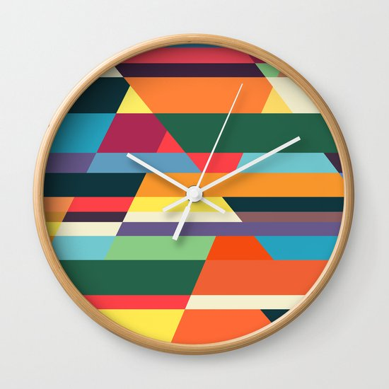 The hills run to infinity Wall Clock