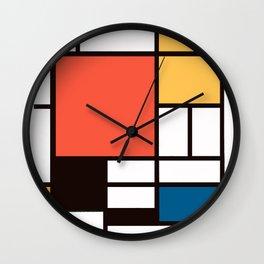 Mondrian 2 Wall Clock