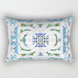Peaceful Spanish Rococo Boho Sacred Geometry Stamp Print Rectangular Pillow