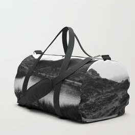 Fairy Glen, Isle of Skye, B/W Duffle Bag