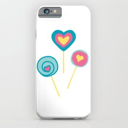 Yellow lollipops sweet love iPhone Case