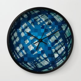 Floating Blue Sphere or Ovoid? Wall Clock