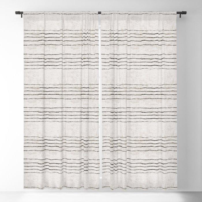Linen Stripe Rustic Blackout Curtain By