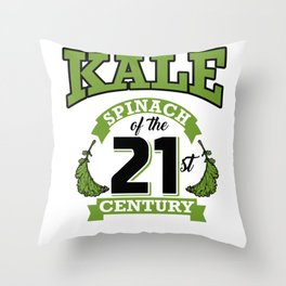 Kale Spinach of the 21st Century Kale Art for Vegans Light Throw Pillow