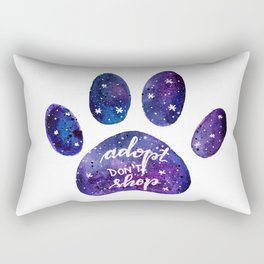Adopt don't shop galaxy paw - purple Rectangular Pillow