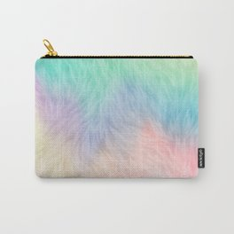 Rainbow Unicorn Fur Carry-All Pouch