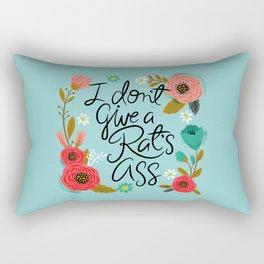 Pretty Sweary- I Don't Give a Rat's Ass Rectangular Pillow