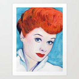 Lucy, I love Art Print