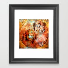 The annonciation of the archangel Gabriel to the Virgin Mary Framed Art Print