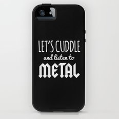 Cuddle Listen To Metal Music Quote Tough Case iPhone (5, 5s)