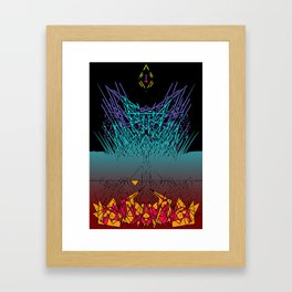 Midwest Hex Framed Art Print