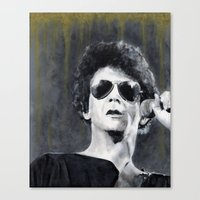 lou reed Canvas Prints featuring Lou Reed by Vikki Sin