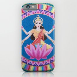 Goddess Lakshmi Lotus Mandala iPhone Case