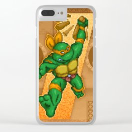 Michelangelo is a party dude Clear iPhone Case