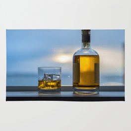 Wet Window Whiskey Rug