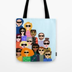 Look on the flip side Tote Bag