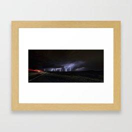 Albuquerque Volcanoes Strikes Framed Art Print