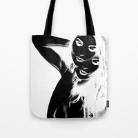 depeche mode Tote Bags featuring Mode by Davann Creations