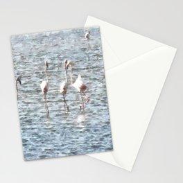 A Flamboyant Pat Of Flamingos Stationery Cards