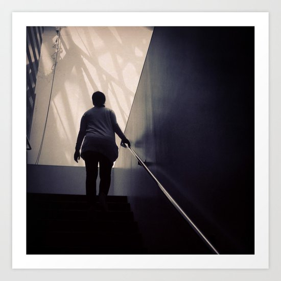 A View from the Stairs II, San Francisco Museum of Modern Art Art Print