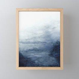 Indigo Abstract Painting | No.2 Framed Mini Art Print