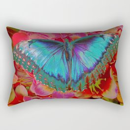 Extreme Blue Morpho Butterfly Rectangular Pillow