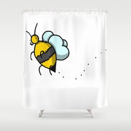Buzzy Bee | Veronica Nagorny Shower Curtain