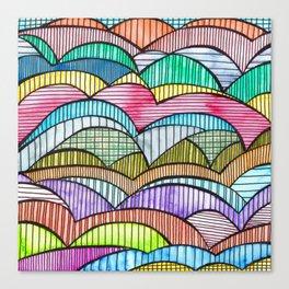 Colourful Landscape Stripes Canvas Print