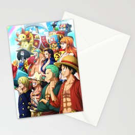 Straw Hats - One piece Stationery Cards