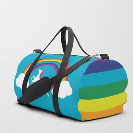 Unicorn Rainbow in the Sky Duffle Bag