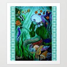 Little Mermaid. Art Print