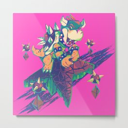 Bowser in the Sky Metal Print