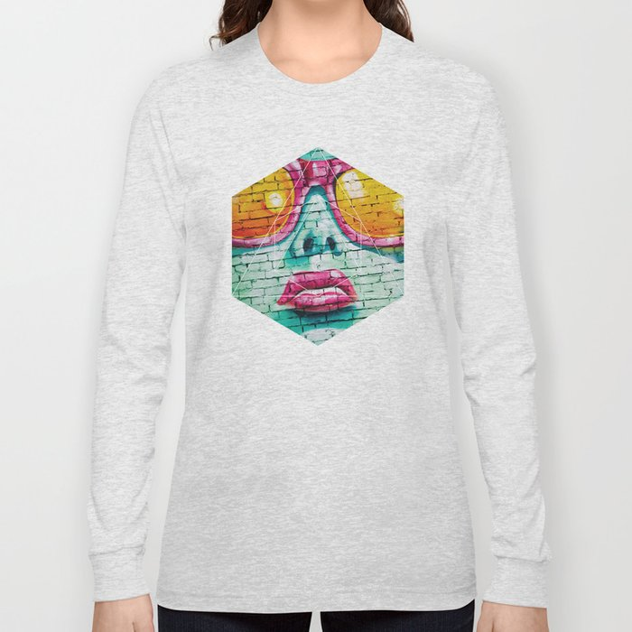 Graffiti Beauty - Geometric Photography Long Sleeve T-shirt