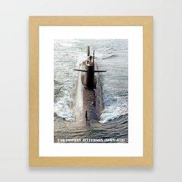 USS THOMAS JEFFERSON (SSBN-618) Framed Art Print