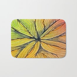 Doodled Aura-Leah Digitized Macro Bath Mat